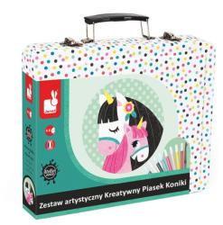 Janod Lovas homokkép készítő bőröndben
