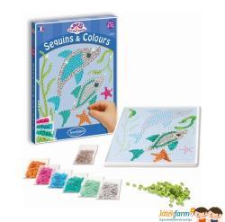Sentosphere Flitterek és színek delfines kreatív szett