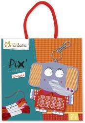 Avenue Mandarine Pix keresztszemes hímző készlet - Barnabé kulcstartó