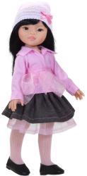 Paola Reina Papusa Liu in bluza roz si fusta denim (4537)