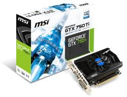 MSI GeForce GTX 750 Ti 1GB GDDR5 128bit PCIe (N750Ti-1GD5/OC)