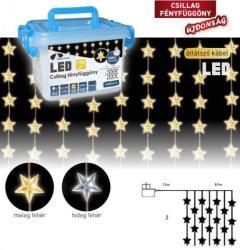 DekorTrend Design Dekor hidegfehér LED-es csillag fényfüggöny 192db 90x200cm (KDS 145)