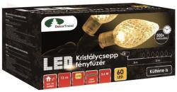 DekorTrend Design Dekor melegfehér LED-es kristálycsepp fényfüzér 60db 12m (KDE 061)
