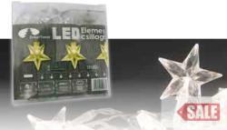 DekorTrend Melegfehér LED-es csillagfüzér 10db (KDE 107)