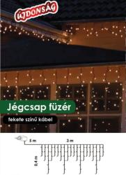 DekorTrend Design Dekor hidegfehér LED-es jégcsapfüzér 101db 300x40cm (KDL 127)