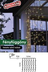 DekorTrend Design Dekor melegfehér LED-es fényfüggöny 198db 1,5x1,5m (KDL 130)