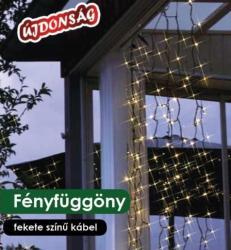 DekorTrend Design Dekor melegfehér LED-es fényfüggöny 192db 90x200cm (KDL 132)