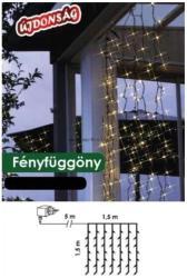 DekorTrend Design Dekor melegfehér LED-es fényfüggöny 198db 1,5x1,5m (KDL 142)