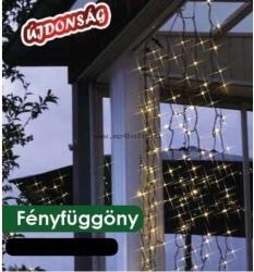 DekorTrend Design Dekor hidegfehér LED-es fényfüggöny 192db 90x200cm (KDL 145)