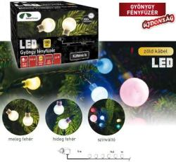 DekorTrend Design Dekor melegfehér LED-es gyöngy fényfüzér 180db 14,4m (KDG 181)