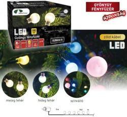 DekorTrend Design Dekor színes LED-es gyöngy fényfüzér 180db 14,4m (KDG 185)