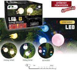 DekorTrend Design Dekor hidegfehér LED-es gyöngy fényfüzér 240db 19,2m (KDG 242)