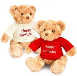 Keel Toys Happy Birthday pulcsis plüss maci 20cm