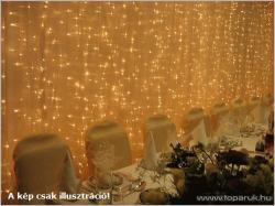 DekorTrend SYSTEM LED fehér toldható LED-es fényfüggöny 1x2m (KST 058)
