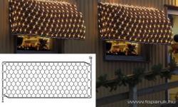 DekorTrend EXPO GALLERY fehér toldható fényháló 2,5x1,2m (KST 860)
