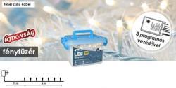 DekorTrend Design Dekor hidegfehér LED-es fényfüzér 8prg 120db 6m (KDVF 122)