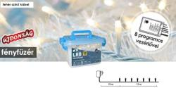 DekorTrend Design Dekor melegfehér LED-es fényfüzér 8prg 240db 12m (KDVF 241)