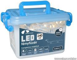 DekorTrend Design Dekor hidegfehér LED-es fényfüzér 8prg 240db 12m (KDVF 242)