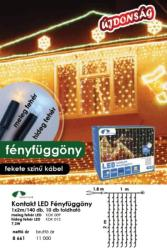 DekorTrend Design Dekor melegfehér toldható LED fényfüggöny 140db 1x2m (KDK 009)