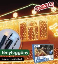 DekorTrend Design Dekor melegfehér toldható LED fényfüggöny 140db 2x1m (KDK 010)
