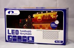 DekorTrend Design Dekor hidegfehér toldható LED fényháló 96db 2x1m (KDK 017)