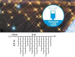 DekorTrend Design Dekor melegfehér toldható LED-es jégszikrázó füzér 138db 200x90cm (KDK 103)