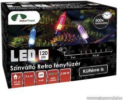 DekorTrend Design Dekor LED-es színváltó Retro fényfüzér 120db 9,6m (KDP 126)