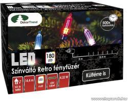 DekorTrend Design Dekor LED-es színváltó Retro fényfüzér 180db 14,4m (KDP 186)
