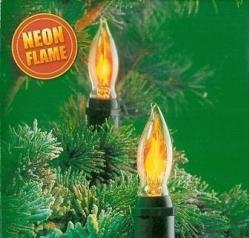DekorTrend NORTEX Flame Lights melegfehér gyertya láng füzér 10db (KMN 013)