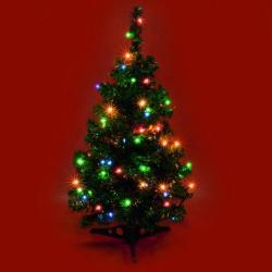 Home 100db-os hagyományos izzós karácsonyfafüzér - színes (KI 100)