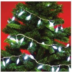 Home Hidegfehér LED-es kristály fényfüzér 8prg 100db (KIL 108)