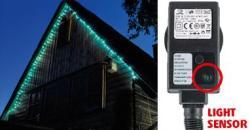 Home Kék LED-es fényérzékelõs fényfüzér 8prg 100db (KTL 108/BL)