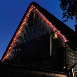 Home Piros LED-es fényérzékelõs fényfüzér 8prg 100db (KTL 108/RD)