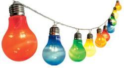 Home Színes LED-es villanykörte fényfüzér 10db (LP 10/M)