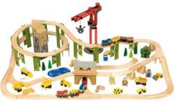 Bigjigs Toys Fa vonat készlet 116 darabos BJT019