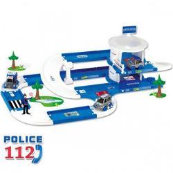 Wader 3D Kid Cars - Garaj pentru politie 3,8m