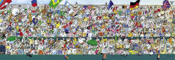Heye Panoráma Puzzle - Sports Fans, Blachon 1000 db-os (29757)