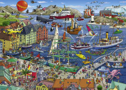 Heye Triangular Puzzle - Tanck: Seaport 1000 db-os (29729)