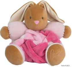 Kaloo Plume Patchwork Rabbit - Puha nyuszi csörgővel, ajándékdobozban 30cm