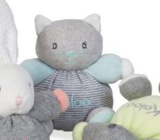 Kaloo Zen Mini Chubbies - Puha cica 12cm