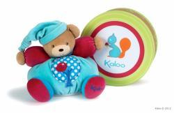 Kaloo Colors Chubby Bear - Puha maci csörgővel, ajándékcsomagolásban 25cm