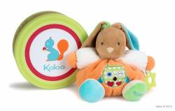 Kaloo Colors Chubby Rabbit - Puha nyuszi csörgővel és rágókával, ajándékcsomagolásban 25cm