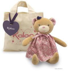 Kaloo Petite Rose Bear Doll - Puha maci szoknyában, ajándékdobozban 28cm