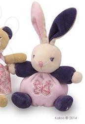 Kaloo Petite Rose Mini Chubbies - Puha nyuszi ajándékdobozban 12cm