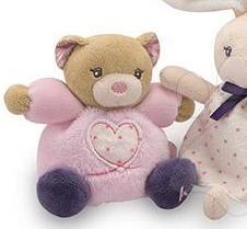 Kaloo Petite Rose Mini Chubbies - Puha mackó ajándékdobozban 12cm