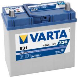 VARTA B31 Blue Dynamic 45Ah EN 330A Jobb+ vékony sarus (545 155 033)