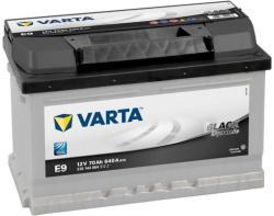 VARTA E9 Black Dynamic 70Ah 640A Jobb+ alacsony (570 144 064)