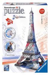 Ravensburger 3D Puzzle - Flag Edition: Zászlós Eiffel-torony 216 db-os (12580)