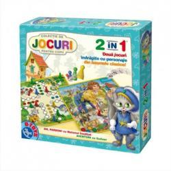 D-Toys Joc 2 in 1 - Oh, pardon! si Motanul Incaltat: Aventuri cu Guliver (60808)