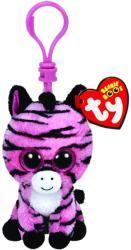 TY Inc Beanie Boos Clip - Baby zebra roz 8,5cm (TY36615)